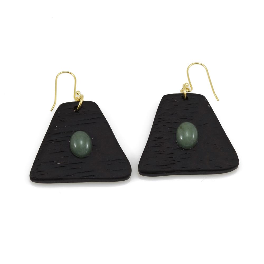Χειροποίητα σκουλαρίκια από φυσικό ξύλο από τη σειρά Element- Dion&Felle