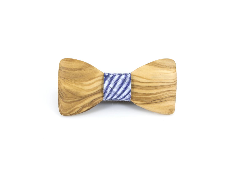 Χειροποίητο παπιγιόν, dionfelle, από φυσικό ξύλο ελιάς.
