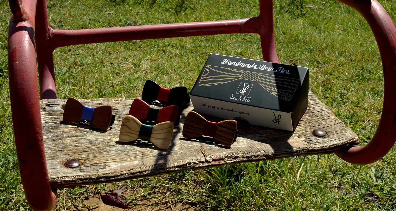 Χειροποίητα βρεφικά παπιγιόν dion&felle. Φτιαγμένα από διάφορα είδη φυσικών ξύλων και συνδυασμένα με τις καλύτερες ποιότητες υφασμάτων, από τη συλλογή Wooden Candies.