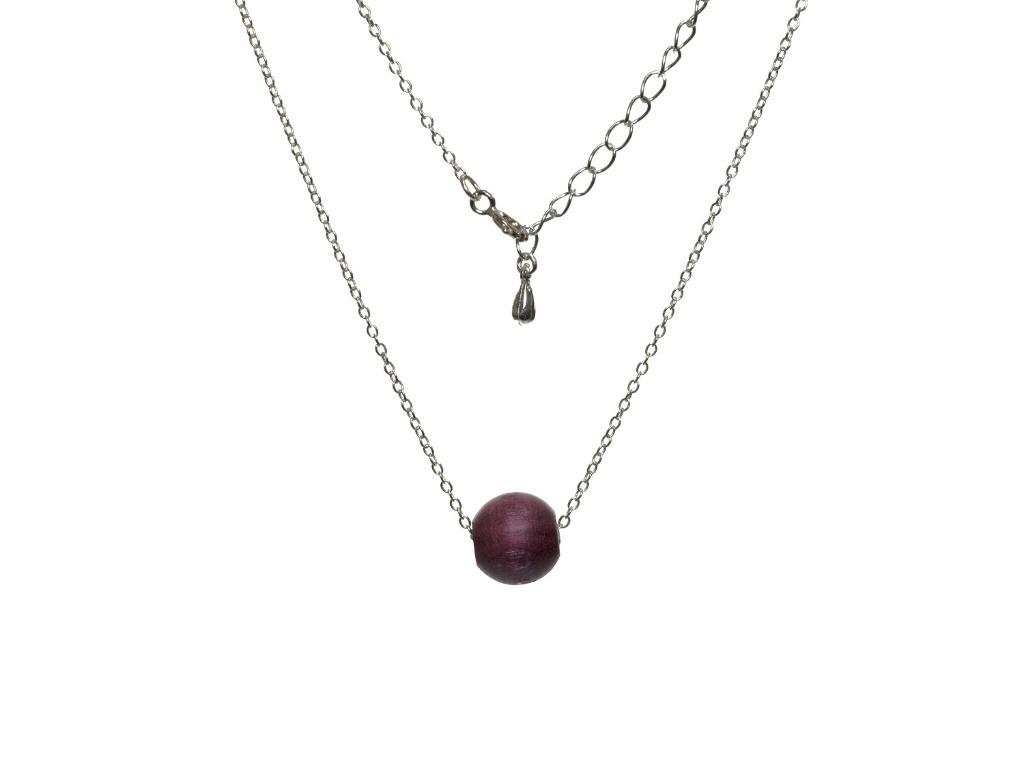 Κολιέ Bubble από ξύλο Purple Heart