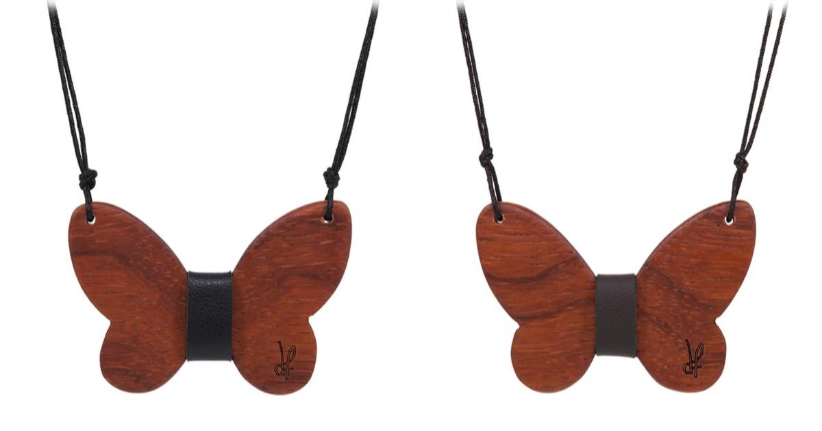 Κολιέ Purity από ξύλο Padauk
