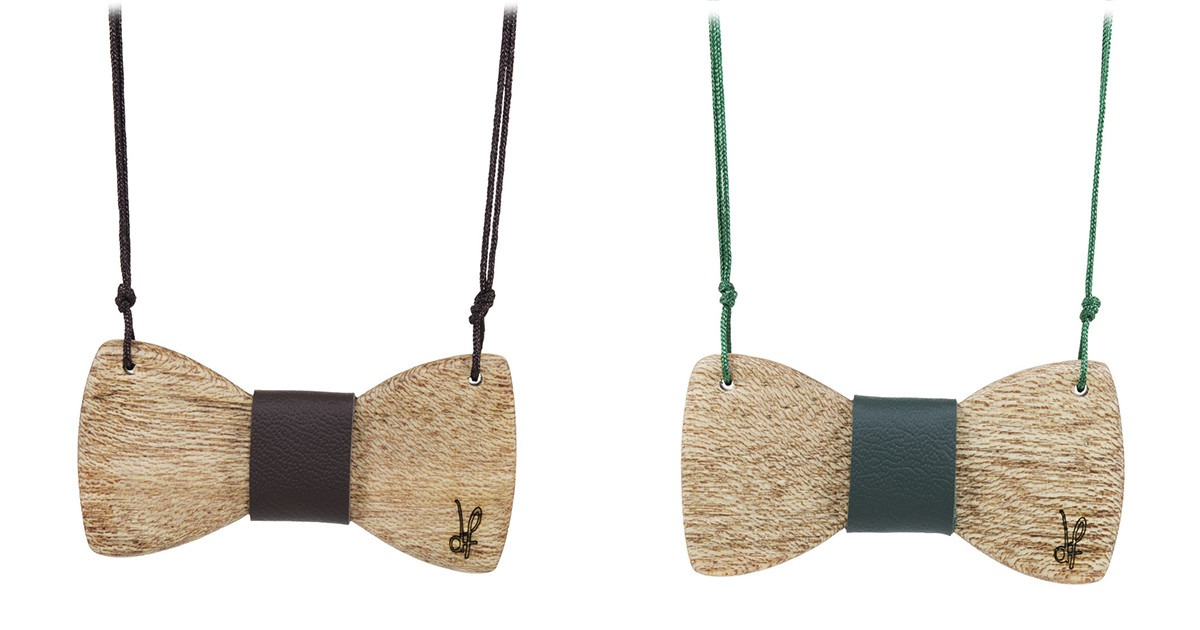 Κολιέ Papillons από ξύλο Meranti