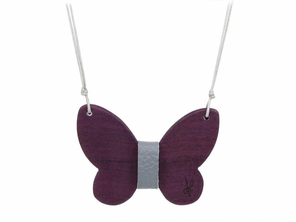 Κολιέ Purity από ξύλο Purple Heart