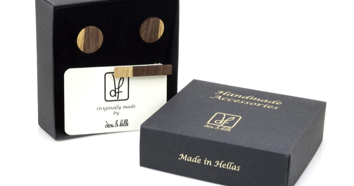 Μανικετόκουμπα & Clip Γραβάτας 40mm