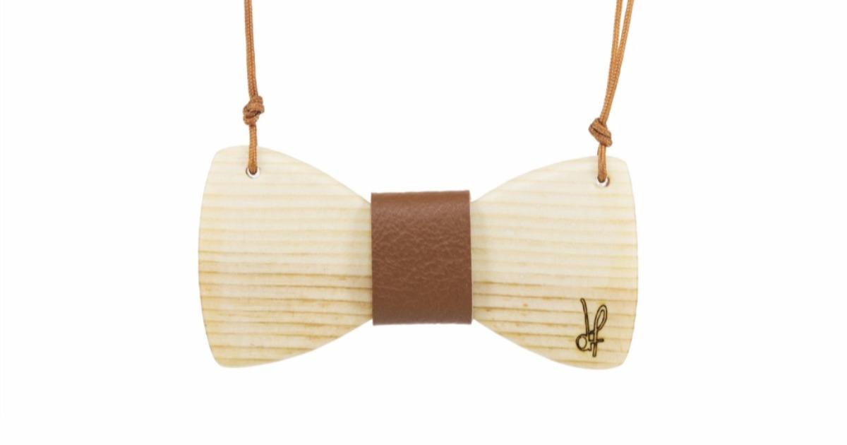 Κολιέ Papillons από ξύλο Πεύκου